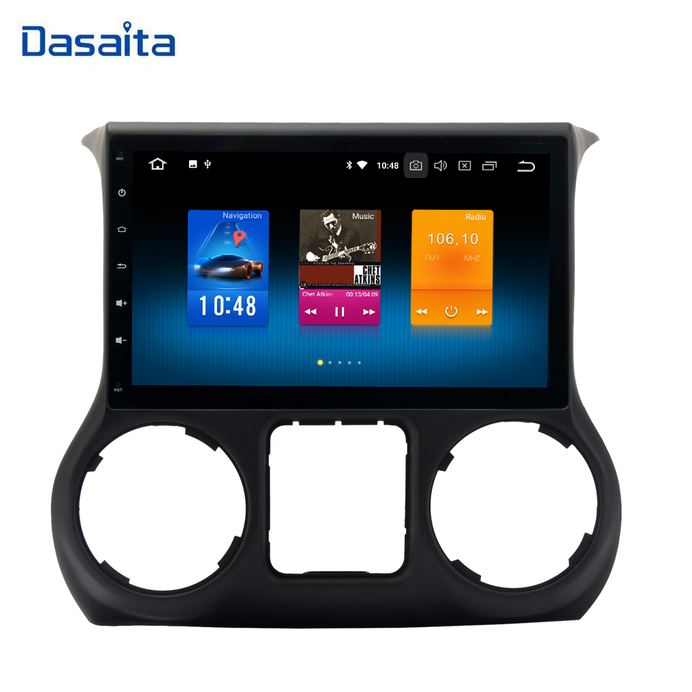 1 din Android 9.0 Car Multimedia for Jeep Wrangler 2011 2012 2013 2014 2015 2016 autoradio Stereo with 8-Core 4Gb+32Gb GPS wifi image