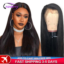 Cranberry Straight Lace Front Wig 4X4 Lace Closure Wig Brazilian Hair Wigs Remy Lace Front Human Hair Wigs For Women Pre Plucked