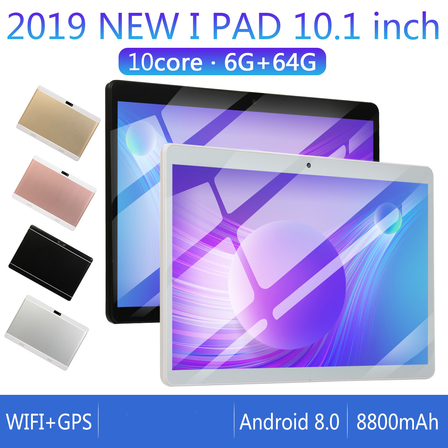 4G Network WiFi Tablet PC Dual SIM Call Phone Tablet Gifts(6G+64G/16G) Tablet Gifts 2020 10 Inch  Android 8.0