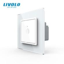 Livolo padrão da ue nova série interruptor de toque de parede, 1 gang 1way toque, ac 220-250 ,4 cores opções, chave de plástico