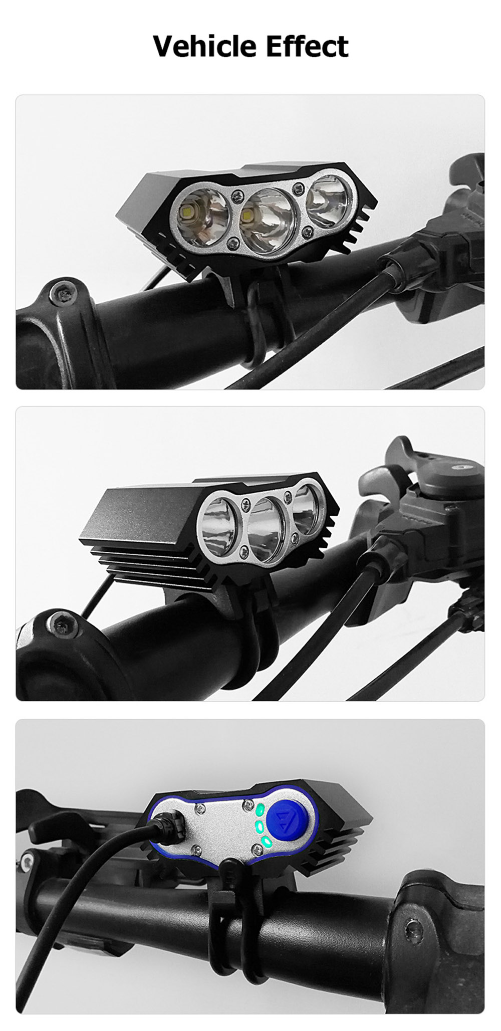12000 Lumens Bicycle Front Light 3xT6 LED Outdoor MTB Road Bike Headlight Waterproof Safe Cycling Lamp With Battery Pack BC0533 (5)
