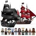 Конструктор «черный жемчуг», совместимый с пиратскими кораблями 4184 4195, модель Карибского моря, строительные блоки с фигурками, подарки на д...