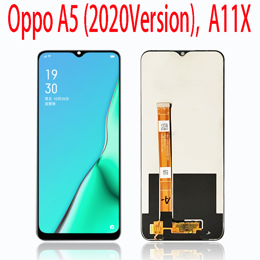 6.5Inch For <font><b>Oppo</b></font> <font><b>A5</b></font> A9 2020 pcht30 PCHM30 CPH1937/ <font><b>OPPO</b></font> A11X A11 <font><b>LCD</b></font> Display Touch Screen Digitizer Replacement For <font><b>Oppo</b></font> <font><b>A5</b></font> 2020 image