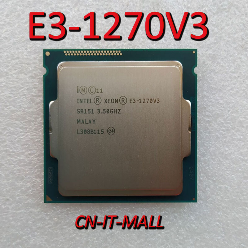 <font><b>Intel</b></font> <font><b>Xeon</b></font> E3-<font><b>1270</b></font> V3 CPU 3.5GHz 8M Cache 4 Core 8 Threads LGA1150 Processor image