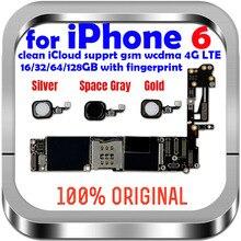 100% oryginalny odblokowany dla iphone 6 płyta główna z Touch ID/bez Touch ID, dla iphone 6 Logic boards,16gb 32gb/ 64gb / 128gb