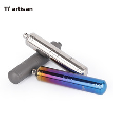 Tiartisan Colorful Mini Pill Box Sealed Waterproof Silver Titanium Container compartment for Household Case