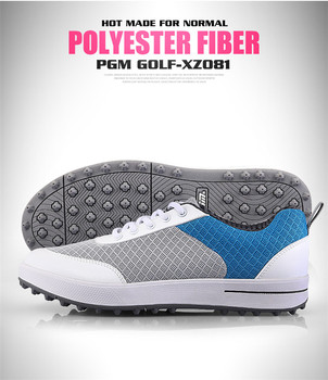 Pgm Women Lightweight Golf Shoes Non-slip Breathable Sports Sneakers Ladies Comfortable Soft Sole Cushion Trainers B2855
