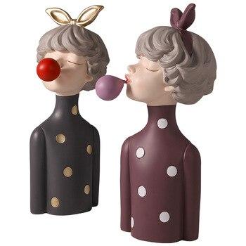 [HHT] escultura de mujer de burbuja soplada de lujo, decoración de resina, muebles para el hogar, sala de estar, armario de vino, decoración, regalo de boda
