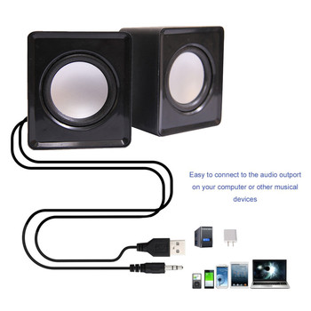 Kebidumei Mini Music Loudspeaker USB 2.0 Stereo Speakers for PC Laptop Notebook Computer Desktop Home Theater Party 3