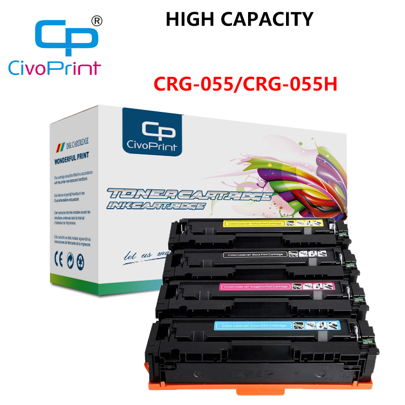 Civoprint CRG-055 055H Toner Cartridge Replacement For Canon I-SENSYS LBP663Cdw LBP664Cx MF742Cdw  (No Chip) 7.6K-5.9K Pages