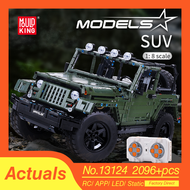Mould King MOC Technic RC Jeeps Wrangler Adventure Off-road vehicle Model Building Blocks Bricks Compatible lepind Toys DIY Gift 1