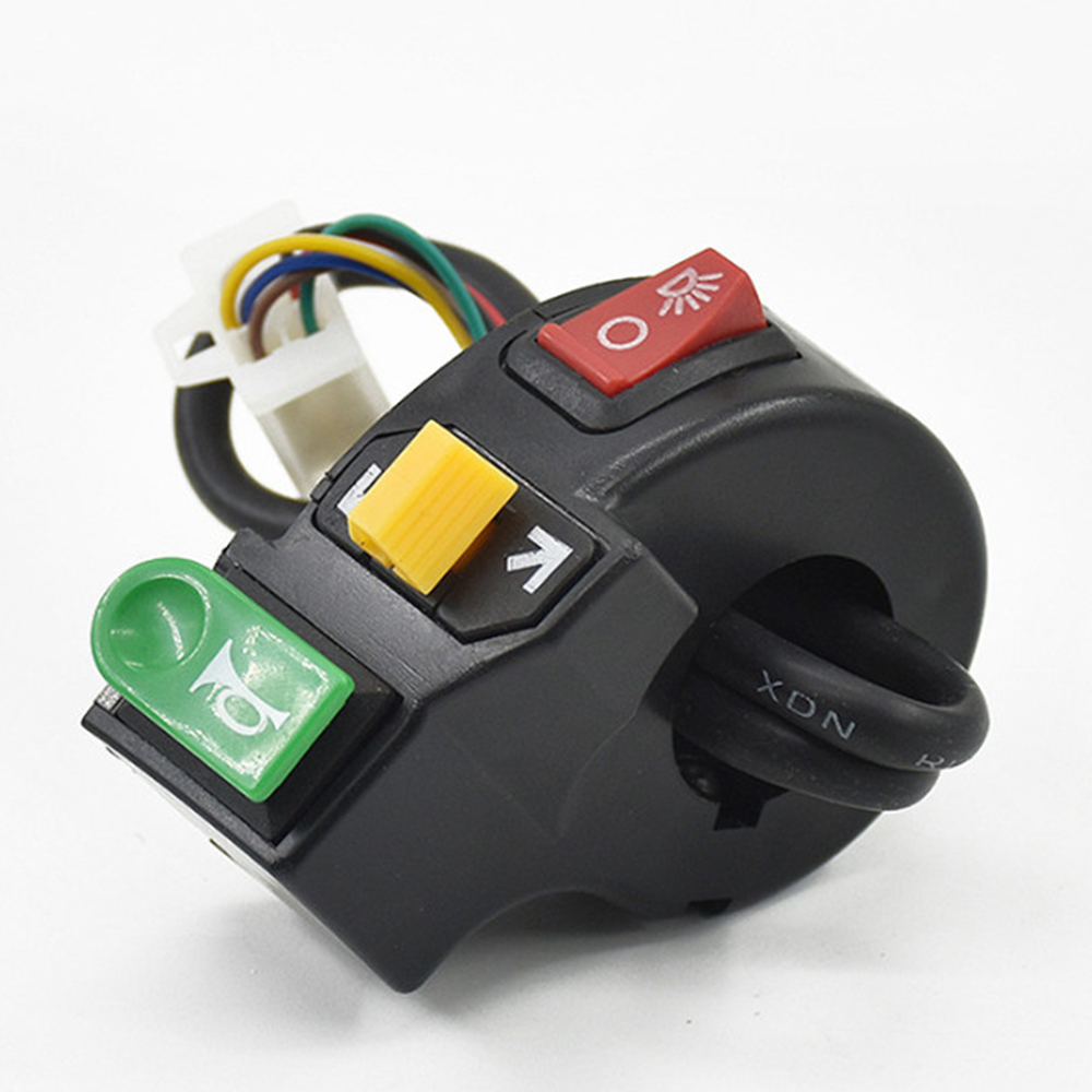 3 In 1 E-Bike Combination Switch Horn Button Turn Signal Lights Scooter Electric Bicycle Accessories Handlebar Parts