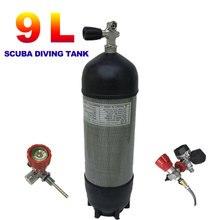 Acecare 9l ce 4500psi pcp tanque de ar de fibra carbono válvula para cilindros mergulho 300bar airforce condor pcp rifle ar pistola