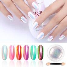 Chrome Pearl Shell Powder Nail Art Glitter Pigment Unicorn Powder Long Lasting Manicure Nail Tip Decoration Gel Polish Dust