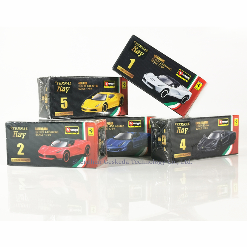 Matte Blue ACE 1//64 Ferrari ENZO Diecast Simulation Supercar Car Model