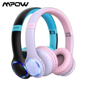Image 1 - Mpow CH9 เด็กบลูทูธหูฟังชุดหูฟังพร้อมไมโครโฟน LED Light 85dB จำกัดสำหรับเด็กวัยรุ่น