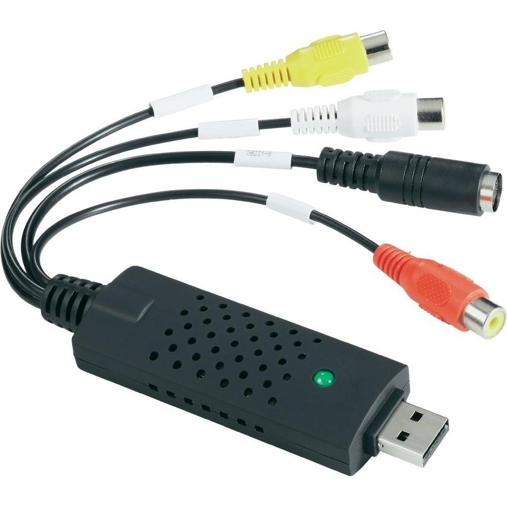 VHS To Digital Converter USB 2.0 Video Converter Audio Capture Card VHS Box VHS VCR TV To Digital Converter Support Win 7/8/10