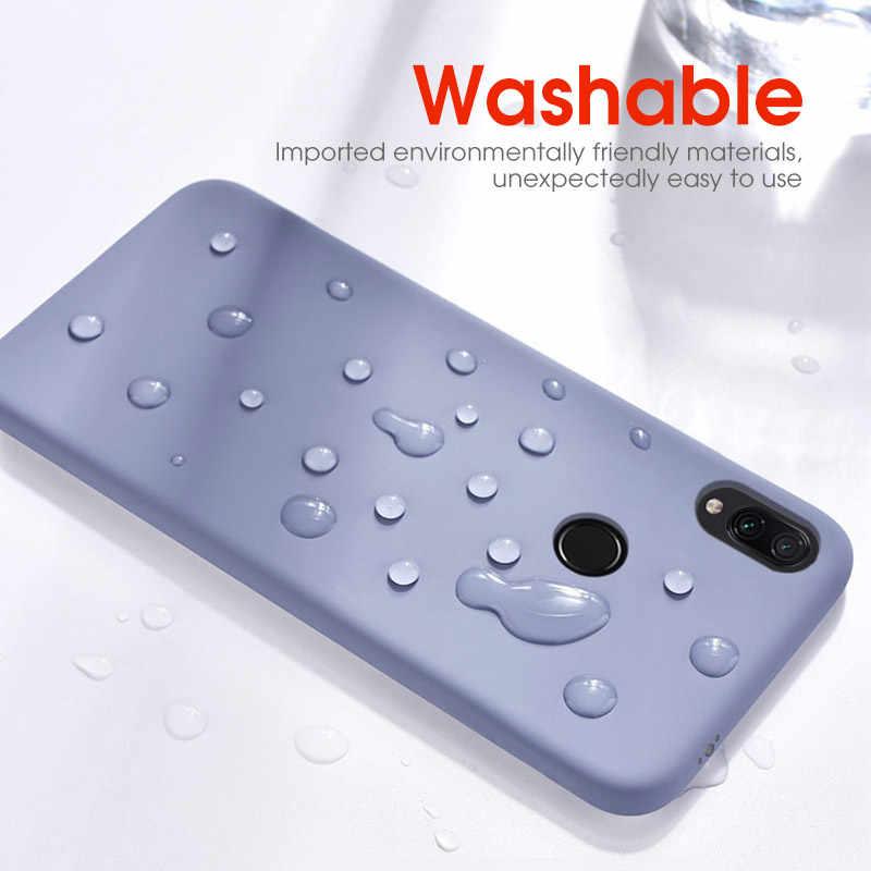 Étui pour iPhone souple mince 7 8 6 6s Plus Coque en Silicone liquide Coque Capa pour iPhone 11 Pro Max XR X Xs Max étui antichoc