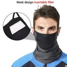 Mascarilla facial Suave para exteriores, máscara transpirable PM2.5 a prueba de polvo, elástica, protectora para el cuello, a prueba de viento, para deportes de ciclismo, capucha, bufanda