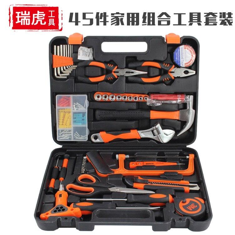 Carpenter Plumber Tools Box Multifunction Portable Garage Hardware Tools Box Wrench Screw Werkzeugkoffer Home Repair DE50GJX