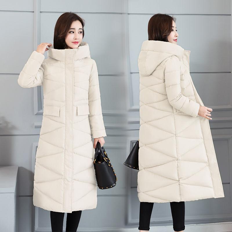 Image 5 - 2019 fur Hooded Parka casaco feminino female jacket Coat plus  size winter jacket women Casual Down Cotton Long Padded ParkasDown  Coats