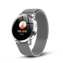 Fashion Women Quartz Watch Waterproof IP67 Blood Pressure Monitoring Metal Starp Multi Sport Modes Smart Watch Wrist Band