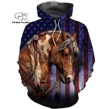 PLstar Cosmos horse HUNTING 3D  Printed Shirts Print Hoodies/Sweatshirt/Zipper Man Women big black Bow Hunter horse-25