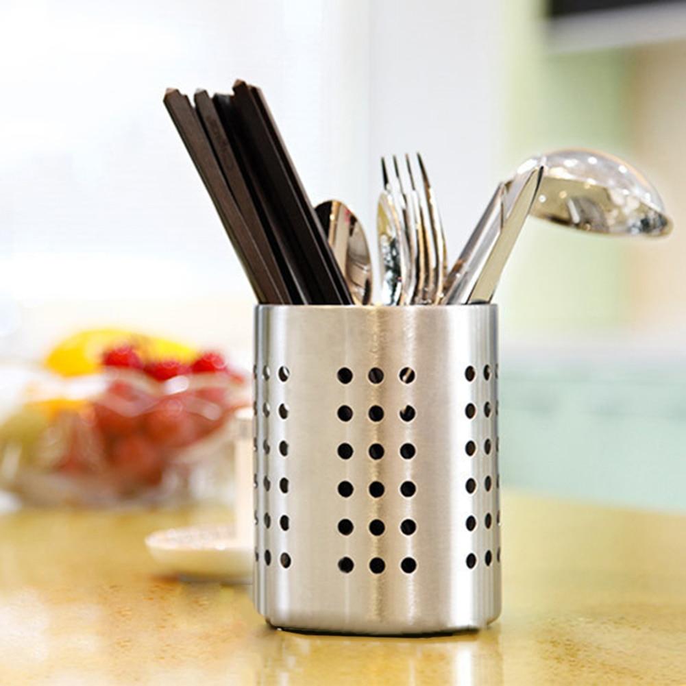 New Stainless Steel Cutlery Drainer Kitchen Storage Rack Tableware Holder Spoons