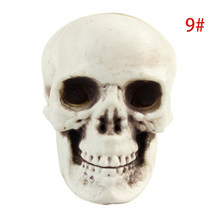 New Hot Halloween Skull Head Decor Toy Coffee Bars Home Ornament  Party Festival Toys