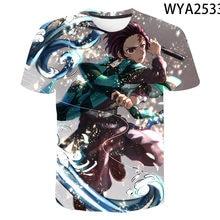 2020 Anime Demon Slayer 3D T-shirt Boys Girls Cartoon Print Tops Men's Women's Children's Cool Tops T-shirts oversize Clothing