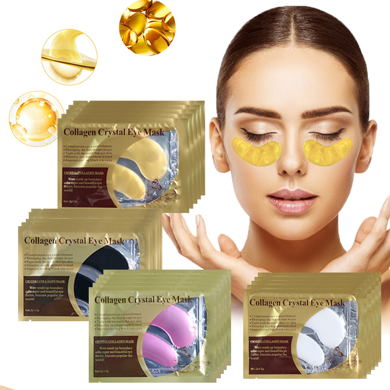 Eye Mask Skin Care Anti Wrinkle Dark Circles Puffiness Eye Patches Gel Pad Face Mask Sheet Mask Collagen Crystal Eye Patches