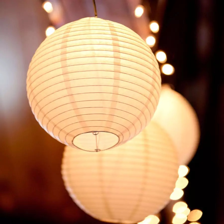 30pcs/set (4,6,8,10,12,14'')Warm White Wedding Lanterns Led Lights Chinese Paper Ball Lampions For Party Baby Shower Favor Decor