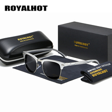 RoyalHot Men Women Polarized Sunglasses Aluminum Magnesium Half Frame Driving Sun Glasses Shades Oculos Male 90089