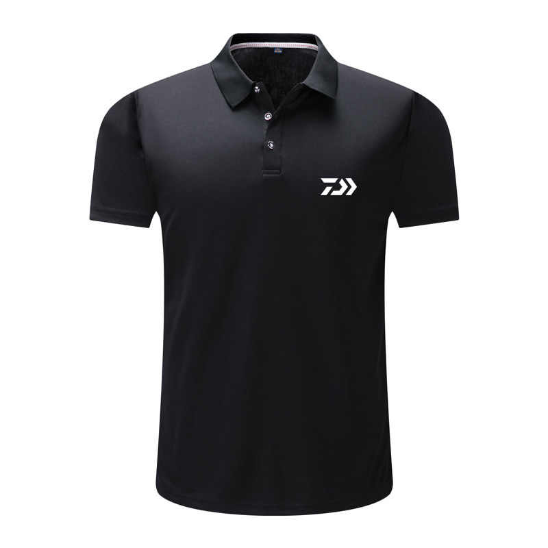 2019 Musim Panas Tshirt Pria Cepat Kering Memancing T-shirt Pakaian Olahraga Es Sutra Bernapas Luar Ruangan Menjalankan Golf Memancing POLO TEE