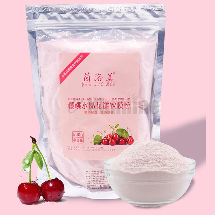 Cherry Crystal Peel Off Modeling Mask Soft Film Powder Beauty Salon Jelly Mask Powder Skin Care Smoothing Moistur 500g