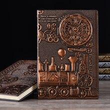 Cool Time Machine Theme diario Vintage, regalo de cuaderno de tapa duro A5 diario forrado regalo de libro de estilo artesanal