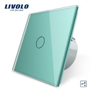 Image 3 - Livolo الاتحاد الأوروبي القياسية الجدار مفتاح الإضاءة التي تعمل باللمس ، الجدار الرئيسية التبديل ، الكريستال والزجاج لوحة التبديل ، 220 250 فولت ، كورس ، باهتة ، اللاسلكية ، الستار