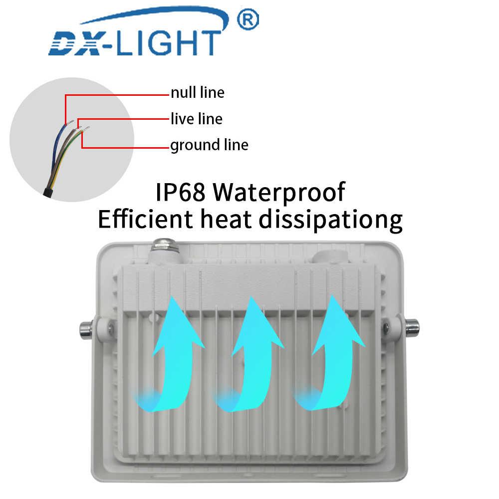 Wasserdicht IP68 LED Arbeit Licht 10W 20W 30W 50W 100W Engineering Licht 220V 230V 240V LED Außen Beleuchtung Wand Lampe Flutlicht