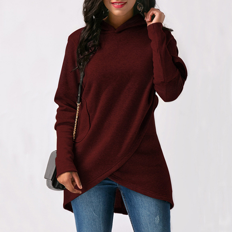 Women Hoodies Sweatshirts Autumn Winter Long Sleeve Pocket Pullover Hoodie 25
