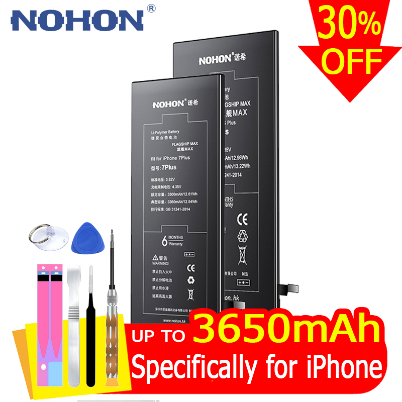 Bateria Replacement Nohon-Battery iPhone6s 6splus SE for 7/6/8-plus/..