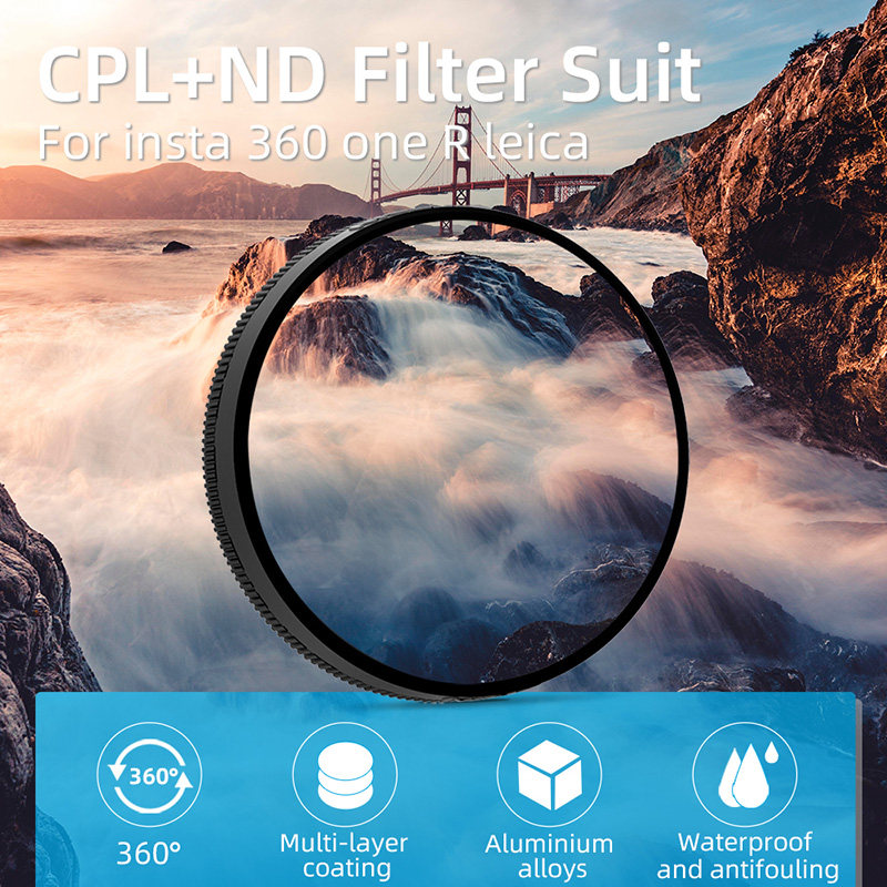 Freewell Neutral Density ND4 Camera Lens Filter Compatible with Insta360 One R 1-INCH Edition