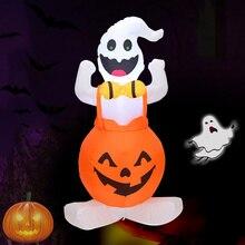 Хэллоуин надувной Blow up призрак тыква с светодиодный светильник 1,2 м для наружного двора Декор J99Store