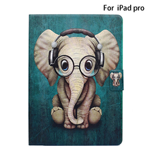 Stand Protective Case Shockproof Anti Scratch PU Leather Flip Cover Elephant Tablet Accesso