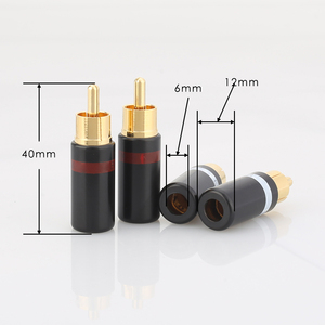 Image 5 - Hifi 4pcs gold plated Rca plug audio AMP interconnect rca plug Socket connector