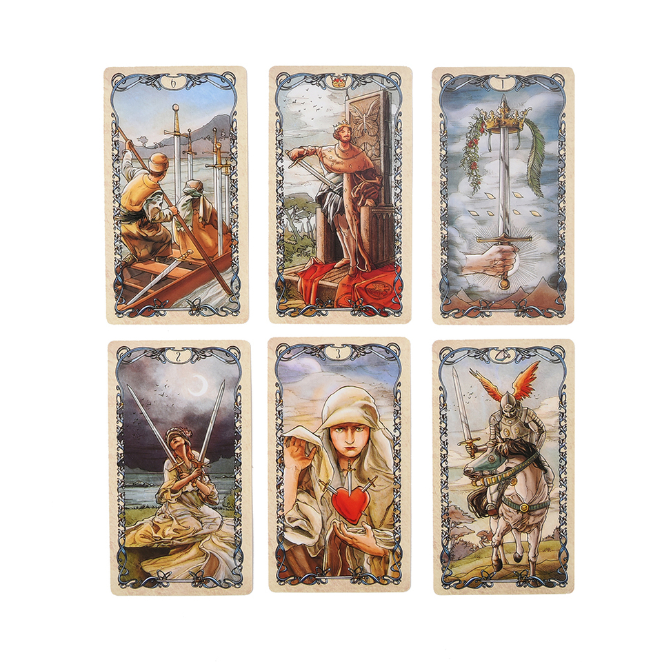 Tarot Mucha Cards By Lo Scarabeo E Guidebook Tarot Game Toy Tarot Divination Card Game Board Card Games Aliexpress