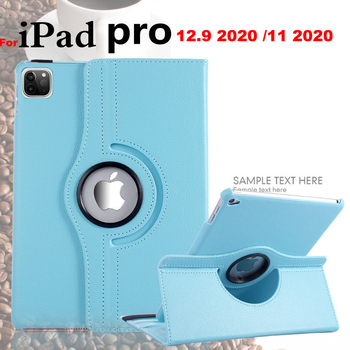 Case For iPad Pro 12.9 inch 2020 Cover For iPad Pro 11 Inch 2020 360 Degree Rotating PU Leather Smart Auto Sleep Awake Cover цена 2017
