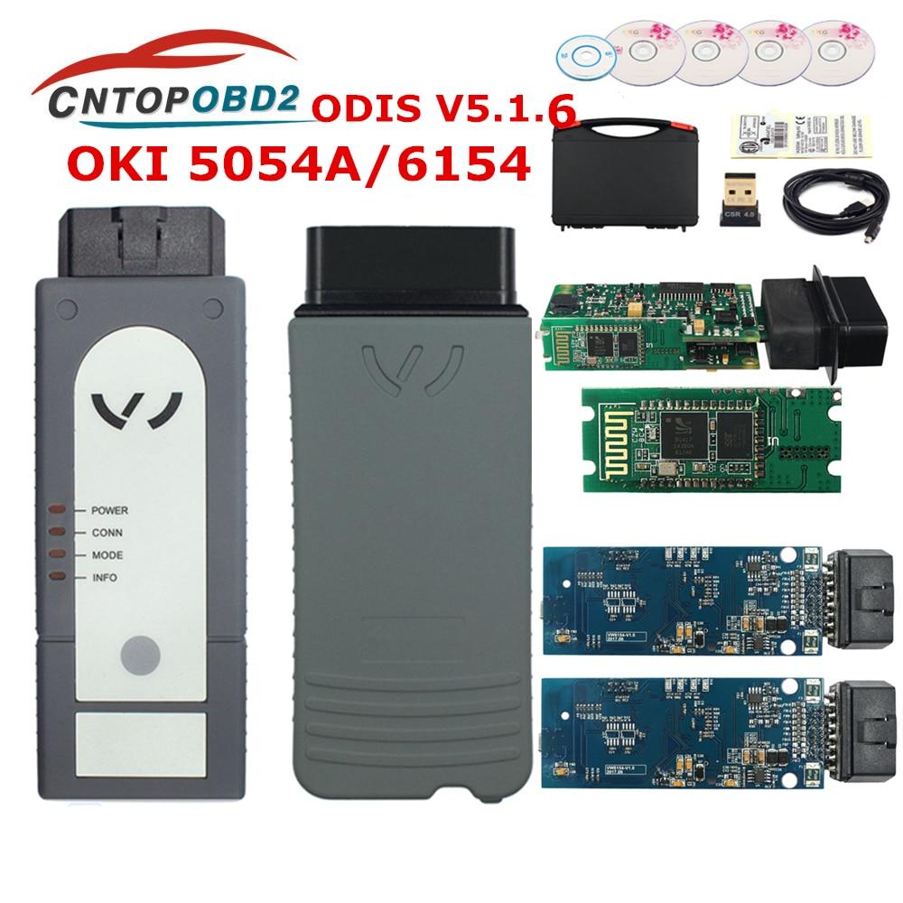 Newest 5054A Original OKI Full Chip Bluetooth AMB2300 5054A V5.1.5 + Keygen 6154 UDS For VAG Diagnostic Tool