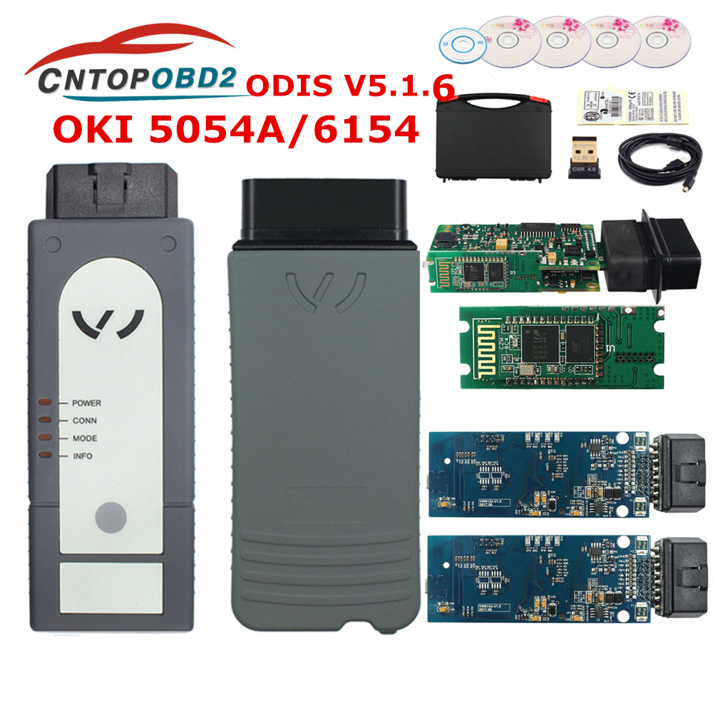 ODIS 5054A Original OKI Full Chip Bluetooth AMB2300 5054A V5.1.5 + Keygen 6154 UDS For VAG Diagnostic Tool