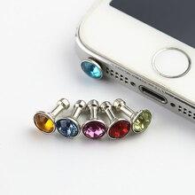 5 piece Universal 3.5mm Diamond Dust Plug Mobile Phone