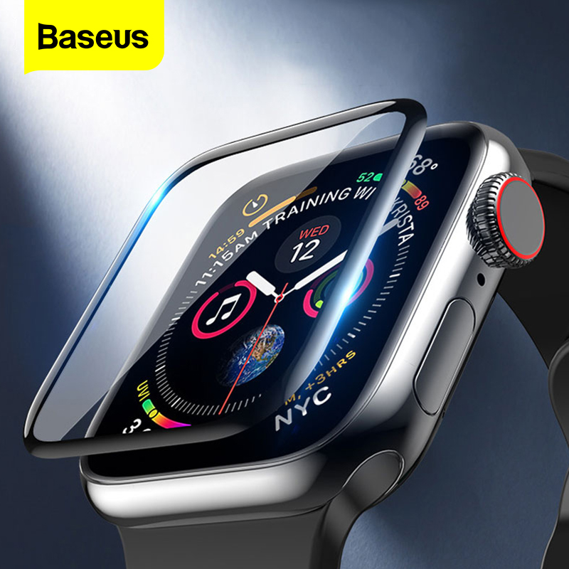 Baseus 0.2mm Screen Protector For IWatch I Watch 4 40mm 44mm Full Cover Soft Protective Film For Apple Watch 4 3 2 1 38mm 42mm